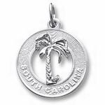 Rembrandt Charms South Carolina Charm - Sterling Silver
