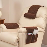 EasyComforts Brown Sherpa Arm Rest Organizer by OakRidge Comforts (Chair Headrest Covers compare prices)