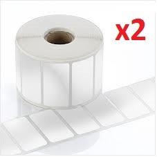2 x Dymo / Seiko 11353 Rouleaux etiquettes papier blanc (1000 Étiquettes par Rouleau)
