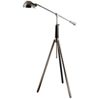 Palomar Tripod Nickel And Mahogany Pharmacy Floor Lamp