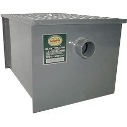 Carbon Steel Restaurant Grease Trap: 14 lb Grease Capacity