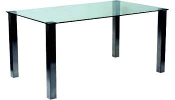 Union clear glass Table 1100mm x 1100mm