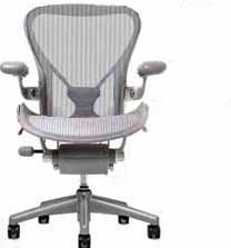 Aeron Chair by Herman Miller – Size B (Medium) – Highly Adjustable – Titanium Smoke Frame – PostureFit Support – Classic Zinc Pellicle