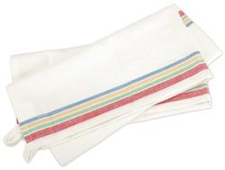 "Review Of Aunt Marthas Vintage Stripe 100% Cotton Towel 18""X28"" 3/Pkg White W/Multi Stripe..."