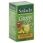 Salada Tropical Mango Green Tea - 20 Bags Per Pack -- 6 Packs Per Case.