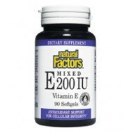 Natural Factors, Gemischte E 200 IE, Vitamin E, 90 Kapseln