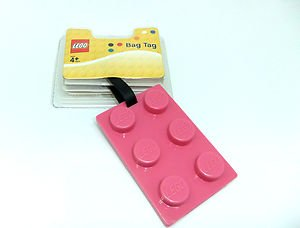 Lego Brick Luggage Tag - Choice of Colour (Pink)