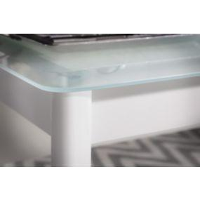 white frosted glass top
