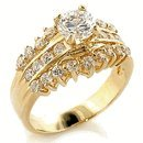 1 Carat CZ Classic Engagement Ring Ring 18kt
