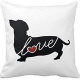 Dachshund Weiner Dog Love 18*18 inch Pillow Case (Weiner Dog Picture compare prices)