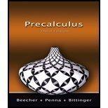 Precalculus 3rd Edition (0131353950) by JUDITH A. BEECHER, PENNA, BITTINGER