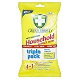 Greenshield Anti Bacterial Household Wipes - Pack of 50