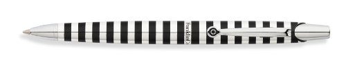Franklin Covey Nantucket, Ballpoint Pen, Polished Aluminum With Black Radial Pattern, By Cross (Fc0072Im-1) front-64292