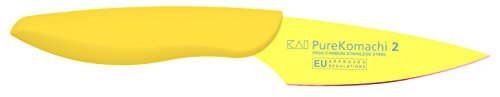 Kai-Pure-Komachi-2-Cuchillo-para-pelar-color-amarillo