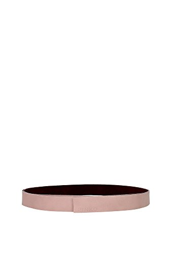 Cinture Pinko Donna Pelle Rosa e Bordeaux 1W2027Y219NY5 Rosa Unica