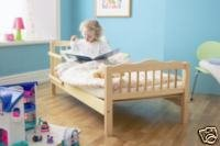 SAPLINGS NATURAL JUNIOR /TODDLER BED WITH SPRUNG MATTRESS