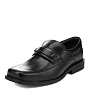 Wide Fit Leather Slip-On Loafers