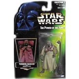 Star Wars Power of the Force Green Hologram Card Tusken Raider Action Figure