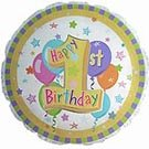 1歳誕生日の風船 パステルファーストバースデー
