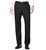 Big & Tall Collezione Luxury Pure Wool Flat Front Twill Trousers