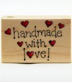 Hero Arts Handmade with Love Woodblock Stamp