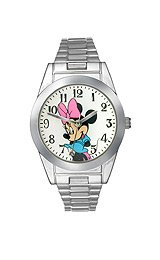 Disney Women's MCK626 Minnie Mouse Silver-Tone Expansion Band Watch