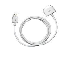 USB Connector Cable Compatible with Apple iPhone / iPod (White)
