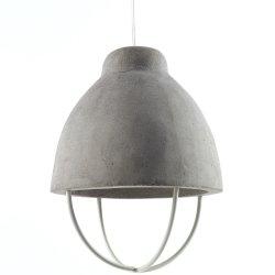 Pendelleuchte Marie - Beton/Metall Weiß