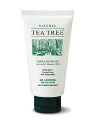 Tea Tree Natural Deep Clean Oil Control Facial Foam Vitamin E Prevent Acne 140G Wholesale Price Made Of Thailand... ( By Abobon )Best Sellers