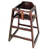 Winco CHH-103 Unassembled Wooden High Chair, Mahogany (Color: Mahogany, Tamaño: Medium)