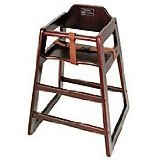 Winco CHH-103 Unassembled Wooden High Chair, Mahogany