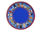 "Joy Carpets Kid Essentials Early Childhood Round Children of Many Cultures Rug, Multicolored, 5'4"" - 1"
