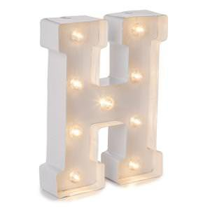 Darice Metal Letter H Marquee Light Up, White