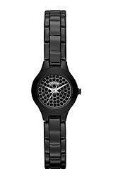 DKNY NY8693 - Reloj para mujeres, correa de acero inoxidable chapado color negro