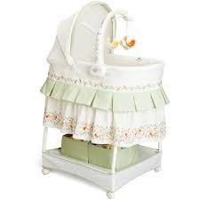 Delta Sweetest Birds Gliding Bassinet, White