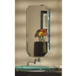 Jensen 52Wh244Pt Metro Octagon Medicine Cabinet With Beveled Mirror, 15-Inch By 31-Inch