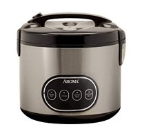 Aroma 16-Cup (Cooked) Digital Rice Cooker And Food Steamer, Stainless Steel