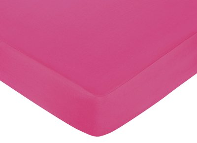 Hot Pink, Black and White Isabella Fitted Crib Sheet for Baby/Toddler Bedding Sets by Sweet Jojo Designs - Hot Pink
