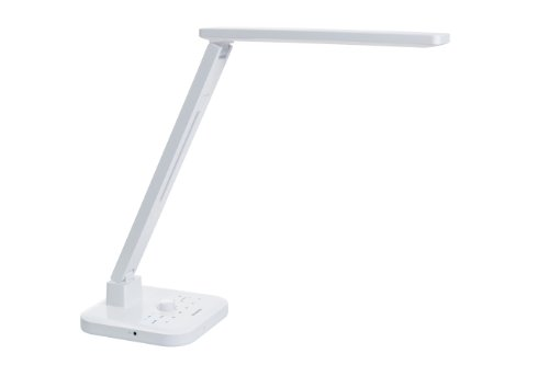 Softech - Natural Light Smart Led Desk Lamp W/ Bluetooth Speaker & Fm Radio-White