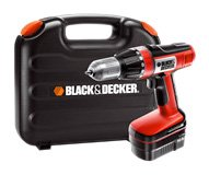 Black  &  Decker 14.4 V Cordless Drill with 2 Batteries and Kit Box