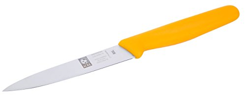 ICEL 4-inch Straight Paring Knife, Yellow Handle
