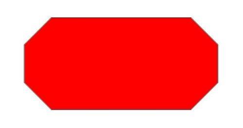 Haftetiketten handauszeichner pour 26 x 12 mm (54.000.. fluor rouge.
