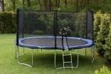 XXXL Gartentrampolin Trampolin 487 cm inkl. Plane, Leiter und Sicherheitsnetz günstig online kaufen