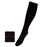 2 Pairs of Heatgen™ 100 Denier Knee High Thermal Socks