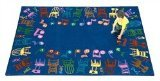 "Joy Carpets Kid Essentials Music & Special Needs Musical Chairs Rug, Multicolored, 7'8"" x 10'9"""