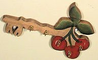 """ABC Products "" - Primitive ~ Cherries Keyholder (Handcrafted in the Good Old USA)."