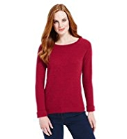 M&S Collection Pure Cashmere Textured Jumper