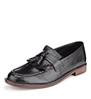 Sartorial Leather Fringe Loafers