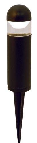 Moonrays 95555 1-watt LED Low Voltage Metal Bollard Landscape Light Fixture, Black