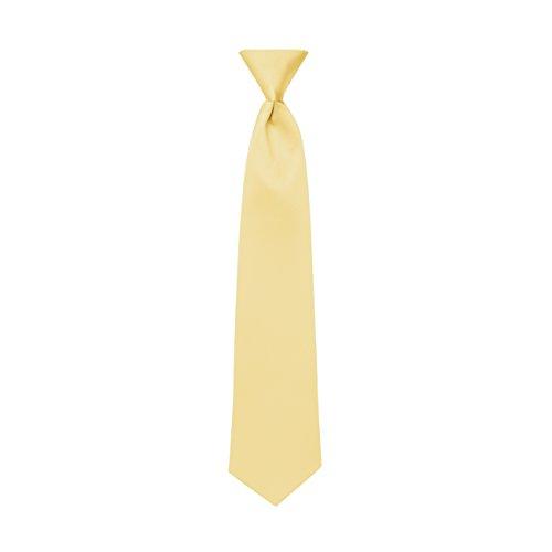 Canary Yellow Satin Mens Pre-Tied Neck Tie